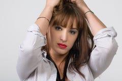 Ritratto sveglio della donna Immagini Stock Libere da Diritti