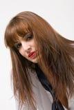 Ritratto sveglio della giovane donna Immagini Stock Libere da Diritti