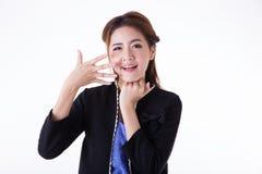 Ritratto tailandese attivo asiatico del ritratto woman fotografie stock