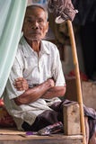 Ritratto tailandese senior dell'agricoltore Fotografie Stock