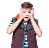 Ritratto teenager del ragazzo Fotografia Stock Libera da Diritti