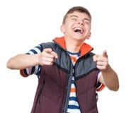 Ritratto teenager del ragazzo Fotografia Stock