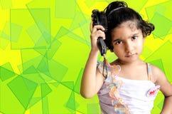 Ritratto teenager della ragazza di modo Fotografie Stock Libere da Diritti