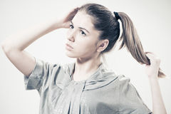 Ritratto teenager espressivo della ragazza Fotografia Stock Libera da Diritti