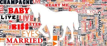 Ritratto tipografico di arte del mondo Immagini Stock Libere da Diritti