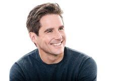 Ritratto a trentadue denti di sorriso dell'uomo bello maturo Fotografia Stock Libera da Diritti