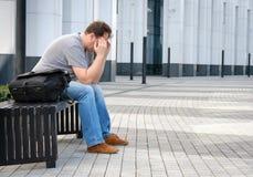 Ritratto triste dell'uomo di medio evo Fotografie Stock Libere da Diritti