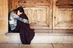 Ritratto triste della donna Fotografie Stock Libere da Diritti