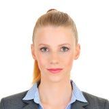Ritratto ufficiale del photobooth di una donna Fotografie Stock Libere da Diritti