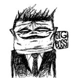 Ritratto umoristico del capo principale Può essere usato per le pubblicazioni, i manifesti e le cartoline royalty illustrazione gratis