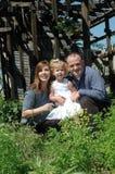 Ritratto unico della famiglia Fotografie Stock