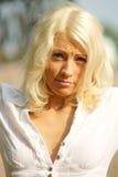 Ritratto Upset della donna fotografie stock libere da diritti