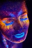 Ritratto UV Fotografia Stock