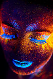 Ritratto UV Fotografia Stock Libera da Diritti