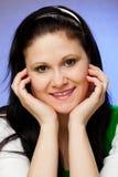 Ritratto verticale della donna Fotografie Stock