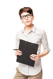 Ritratto verticale di una donna di 25 anni di affari Fotografie Stock
