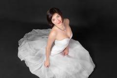 Ritratto in vestito bianco Fotografia Stock Libera da Diritti