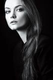 Ritratto vicino su della giovane donna Fotografia Stock Libera da Diritti