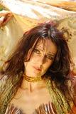 Ritratto zingaresco della donna Immagini Stock Libere da Diritti