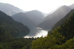 Ritsa lake, Abkhazia Royalty Free Stock Photos