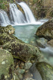 Ritsons Force Mountain Flowing Waterfall. Stock Photos