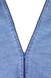 Ritssluiting die voor wit openstelt Stock Fotografie