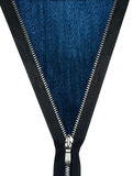 Ritssluiting opengeritste jeanstextuur Royalty-vrije Stock Afbeeldingen