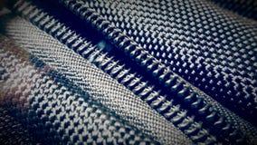 Ritssluiting van een synthetische textuur van de rugzakstof Royalty-vrije Stock Fotografie