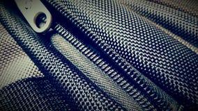 Ritssluiting van een synthetische textuur van de rugzakstof Royalty-vrije Stock Afbeelding