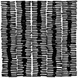 Ritssluiting zoals zwart-wit vlak die patroon uit kort, hand wordt samengesteld getrokken tellerslijnen Stock Afbeelding