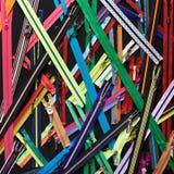Ritssluitingen voor kleren op zwarte Royalty-vrije Stock Foto