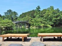 Ritsurin Garden in Takamatsu, Kagawa Prefecture, Japan. Royalty Free Stock Photography