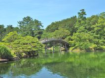 Ritsurin trädgård i Takamatsu, Japan Fotografering för Bildbyråer
