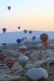 Ritt för ballong för varm luft, Cappadocia Arkivfoto