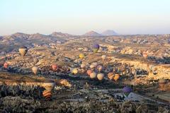 Ritt för ballong för varm luft, Cappadocia Arkivfoton