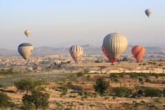 Ritt för ballong för varm luft, Cappadocia Arkivbilder