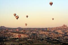 Ritt för ballong för varm luft, Cappadocia Fotografering för Bildbyråer