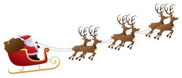 ritt s santa stock illustrationer