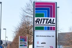 Rittal sign in haiger germany stock images