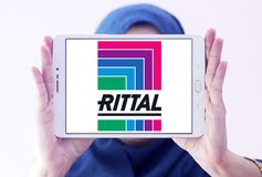 Rittal technology company logo. Logo of Rittal technology company on samsung tablet holded by arab muslim woman. Rittal is a German company. The company royalty free stock photos