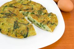 Rittata with asparagus Stock Image