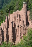 Ritten Earth Pyramids Stock Photography