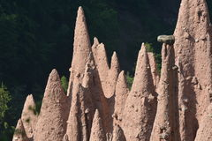 Ritten Earth Pyramids Stock Images