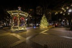 Rittenhouse Square in Center City at Night in Philadelphia, Penn Stock Image