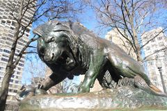 Lion Statue in Rittenhouse Square Philadelphia royalty free stock image