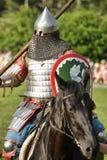 Ritter auf dem Pferd Stockbild