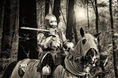 Ritter auf dem Pferd Lizenzfreies Stockbild