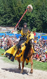 Ritter auf dem Pferd Stockfotos