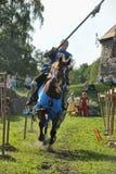 Ritter auf dem Pferd Stockfotografie