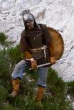 Ritter auf einem Felsen Stockfotos